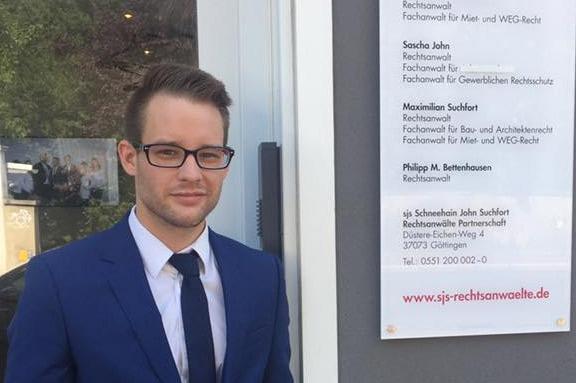 Neu im Team sjs Rechtsanwälte Göttingen: Rechtsanwalt Philipp Bettenhausen